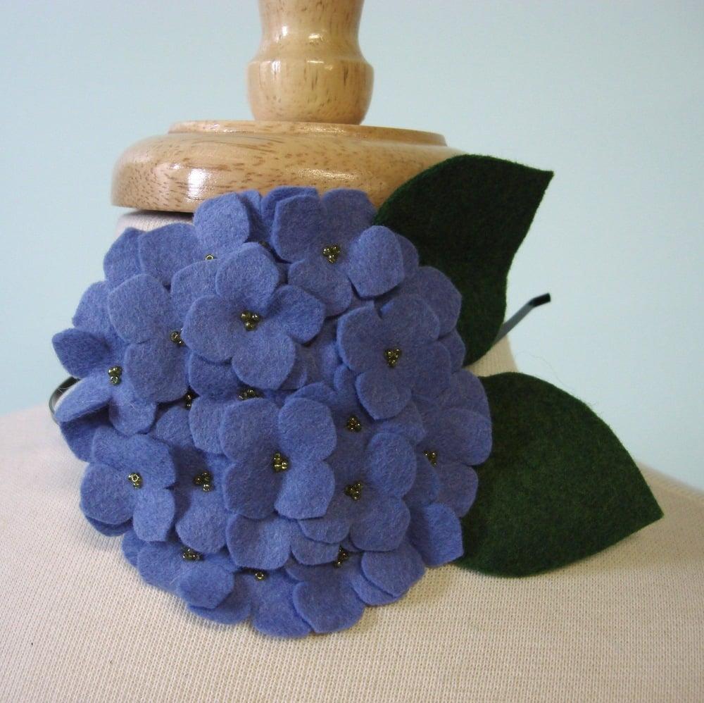 Image of large hydrangea // periwinkle headband
