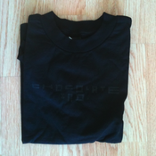 Image of Chocolate Industries Black on Black logo tee shirt.