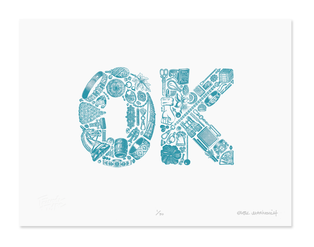 Image of OK (2 color edition) by  Erik Marinovich