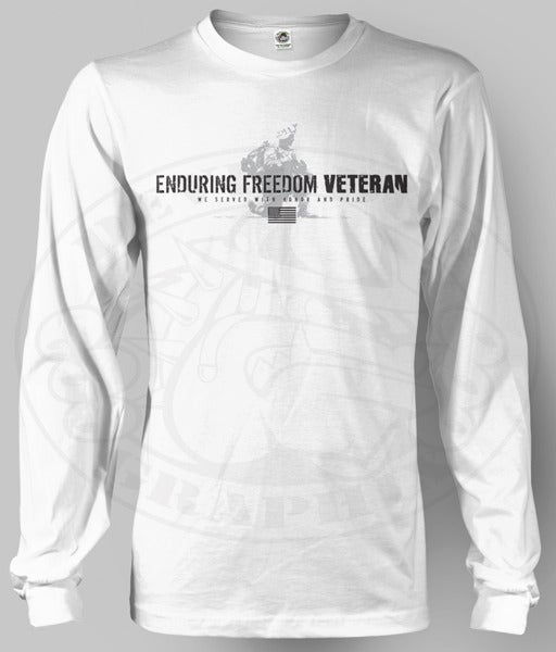 Image of ENDURING FREEDOM VETERAN Long Sleev Shirt