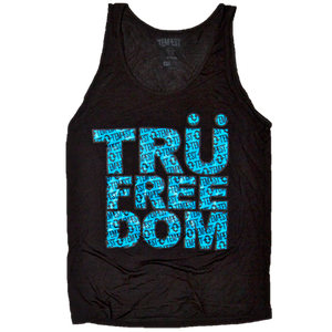Image of Tru Freedom Unisex Tank (Black/Blue)
