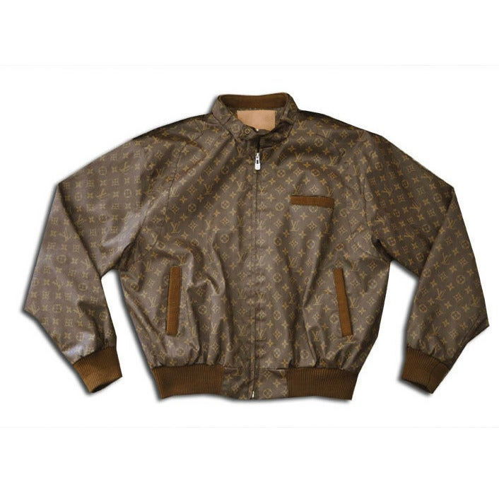 6481f1997 Image of Louis Vuitton LV 'Members Only' Vintage Leather Jacket ...