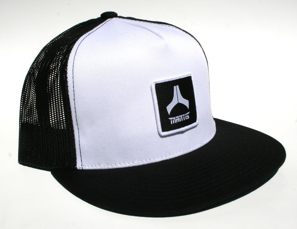 Image of Mantis Hat - Mesh Snapback / Patch / White Front, Black Mesh