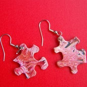 Image of Puzzle Piece Earrings