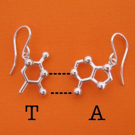 Image of DNA/RNA base pair earrings