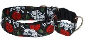 Image of Beastie Skulls Martingale Collar on UncommonPaws.com
