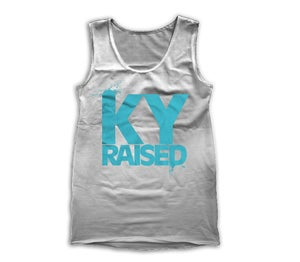 Image of KY Raised Women's Tank in Grey & Teal
