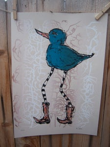 Image of Bird with boots