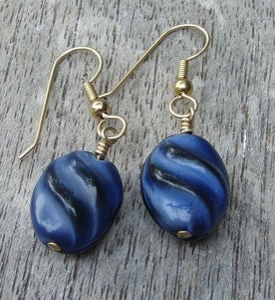 Image of Blue Swirl Earrings