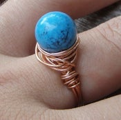 Image of Turquoise and Copper Ring