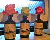 Image of Upcycled Bottle Bud Vases