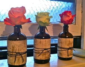 Image of Upcycled Bottle Bud Vases