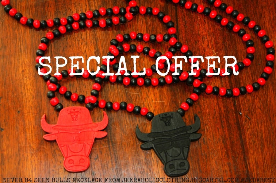 Image of ALL NEW BULLs WOOD NECKLACE #WEDABEST