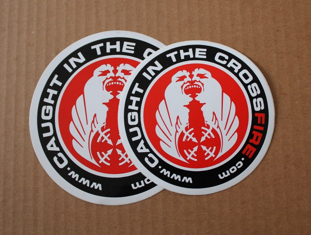 Image of CROSSFIRE CLASSIC CIRCLE STICKERS!