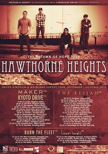 Image of 1 X TICKET: HAWTHORNE HEIGHTS | HOBOS BRIDGEND | SUNDAY SEPTEMBER 30TH 2012