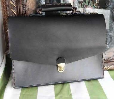 "Image of Handmade Leather Briefcase / Portfolio / Messenger / 14"" Laptop 13"" 15"" 17"" MacBook Case Bag (m05-2)"