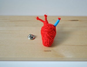Image of Anatomical Heart Brooch Pin String Doll