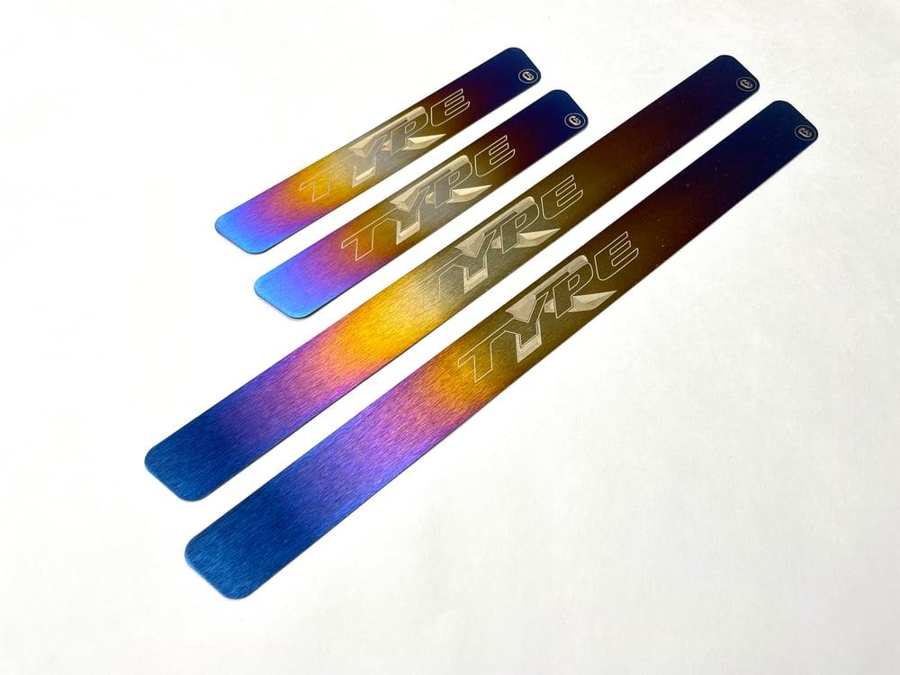 Honda Civic Type R FK8 titanium door sills