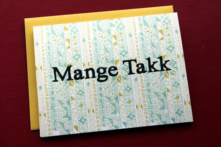 Image of  Mange Takk-Many Thanks in Norwegian