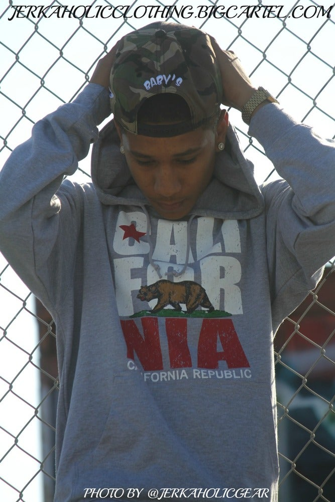 Image of CALIFORNIA  REPUBLIC GREY HOODIE 4THE LOW