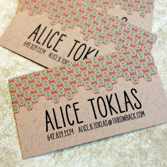 Image of  Patterned Calling cards on Kraft