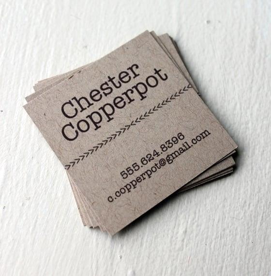 Image of  Simple Typewriter Calling cards on Kraft