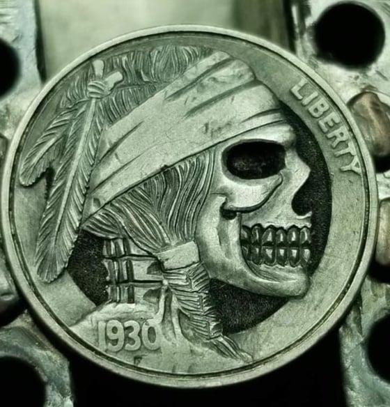 Image of Bandana Skull Nickel
