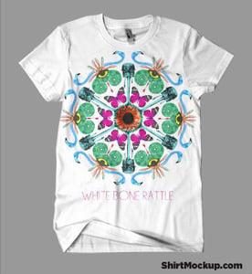 Image of White Bone Rattle Mandala T SHIRT - Very Limited