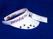 "Image of PurseDogTV ""Glitter Dog"" Visor"
