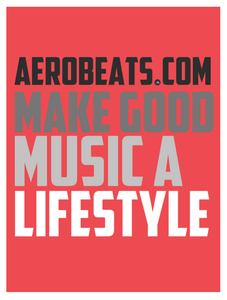 "Image of AeroBeats.com ""Lifestyle"" Poster (Red) – 18'' x 24''"