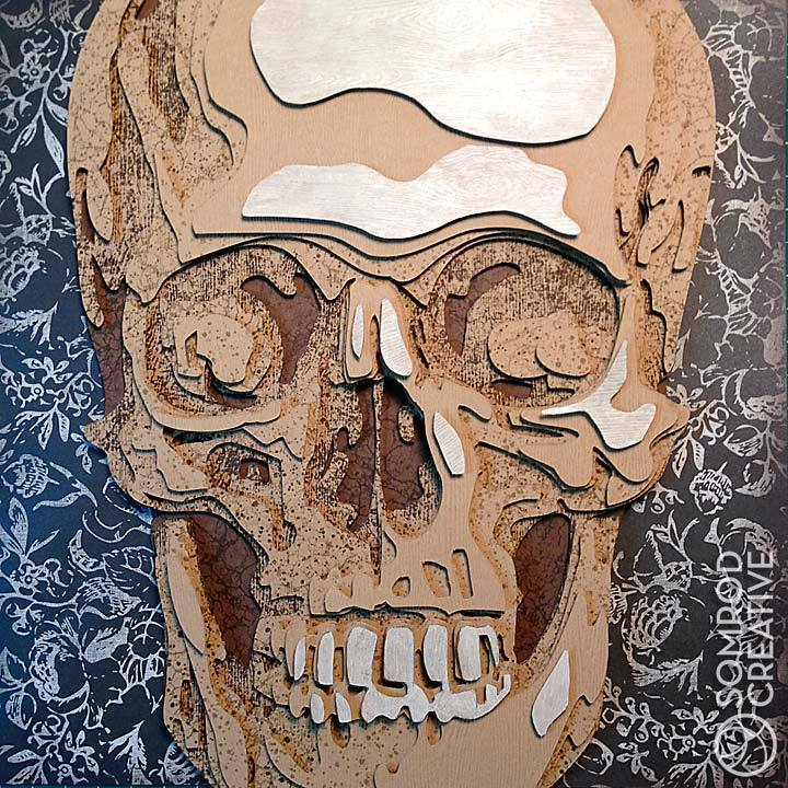 Image of Wood Skull Optograph