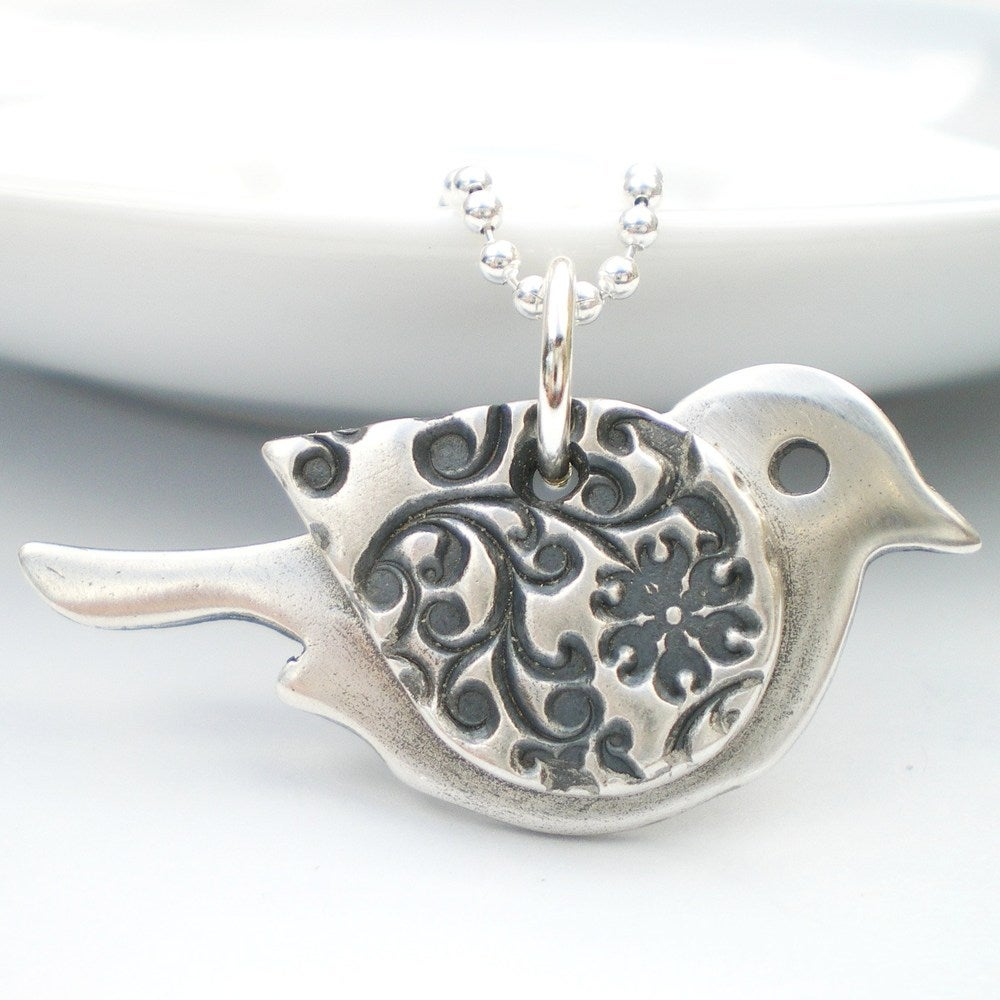 Alibalijewellery orange blossom silver bird pendant orange blossom silver bird pendant mozeypictures Image collections
