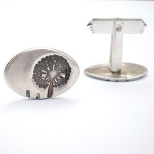Image of Silver Dandelion Wish Cufflinks