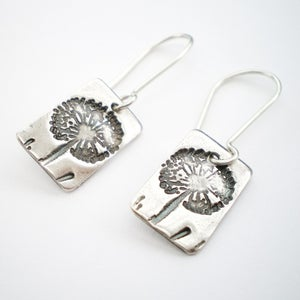 Image of Silver Dandelion Wish Dangle Earrings