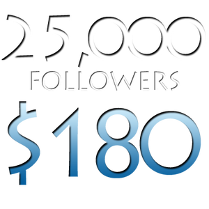 Image of 25,000 Worldwide Twitter Followers