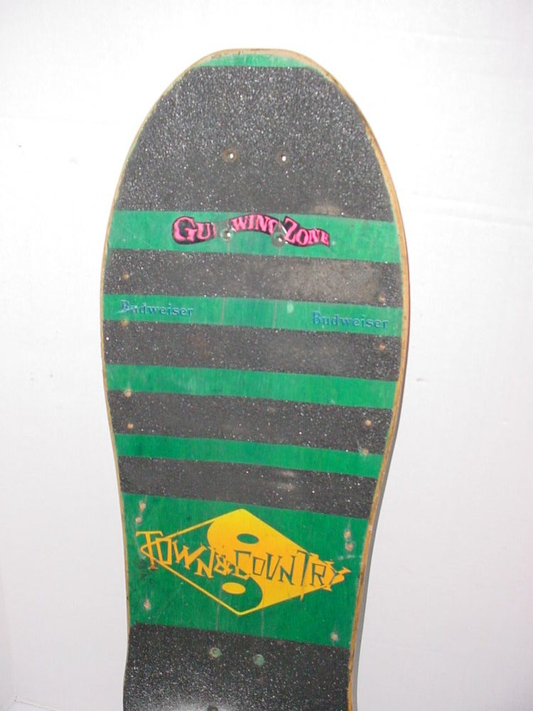 "Image of Old School Skateboard 1986 Town & Country Ken Park ""Mugger"" Pro Model Deck Rare"
