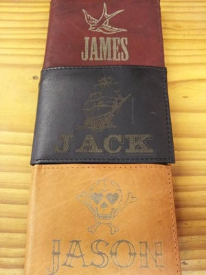 Image of Leather Wallet - Skull