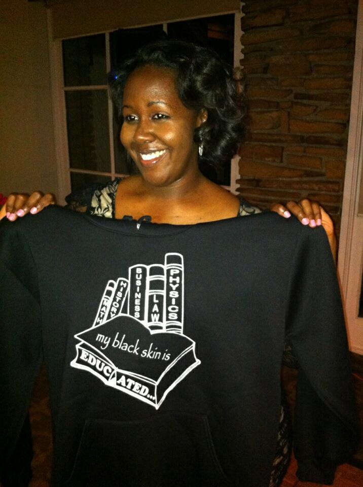 "Image of ""my black skin is EDUCATED..."" Crewneck Sweatshirt"
