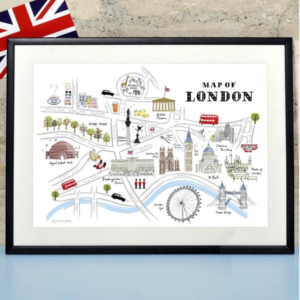 Alice Tait Map of London Print Alice Tait Shop