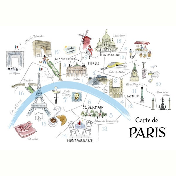 photo relating to Printable Maps of Paris named Alice Tait Map of Paris Print - Alice Tait Retail outlet