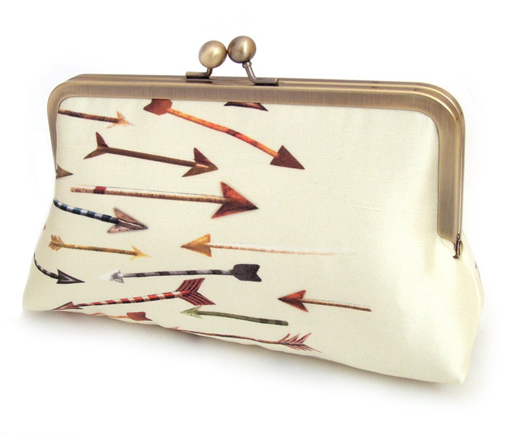 Image of Arrows - A Red Ruby Rose original silk-lined clutch bag