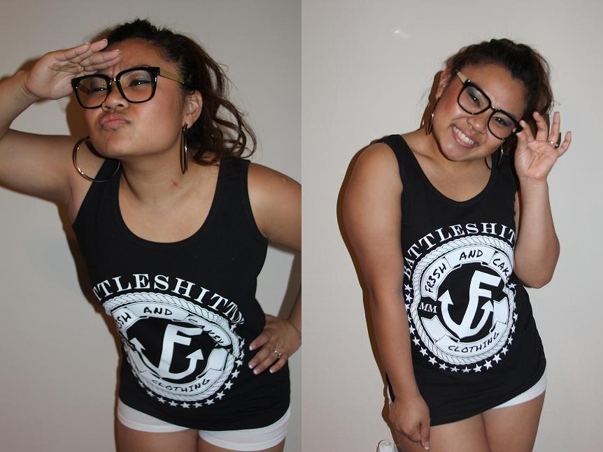 "Image of Fr3sh & Cakey ""BattleShittin'"" Women's Tank Top in Black"