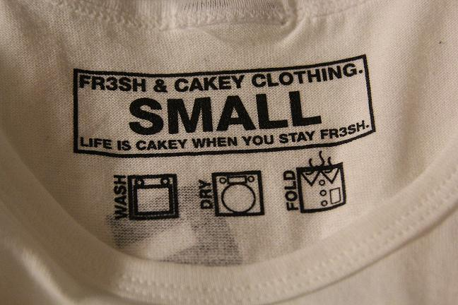 "Image of Fr3sh & Cakey ""BattleShittin"" T-Shirt in White"