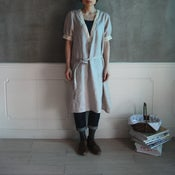 Image of Linen Deep V Dress /純亞麻深v領連身裙(code: 076)
