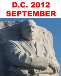 Image of Washigton, D.C.<BR />September 27 to<BR />October 1, 2012