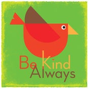 Image of  Be Kind Always Bird Art Print (Green)