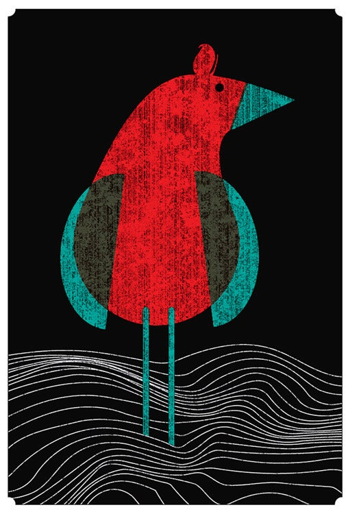 Image of Seabird Silkscreen Art Print