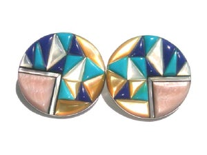 Image of Geo Pyramid Earrings