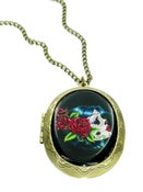 Image of Sugar Skull Frida Locket