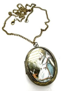Image of Alice in Wonderland Disappearing Rabbit Locket